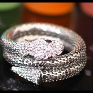 Hot🌶🐍SILVER stretchable snake cuff